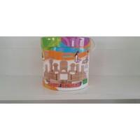 Karsan Woodoy 60 Parça Renkli Ahşap Bloklar