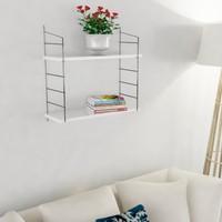 Decormet Armoni Raf ve Kitaplık Seti 2 Raflı 200X720 Beyaz