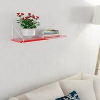 Decormet Armoni Raf ve Kitaplık Seti 1 Raflı 200X720 Beyaz-Parlak Kırmızı