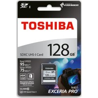 Toshiba Exceria Pro 128 Gb Sdhc / Sdxc Uhs-I C10 U3 95 /85 Mb/Sn (Thn-N401S1280E4)