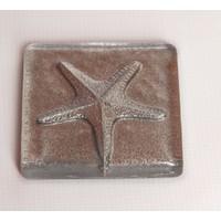 Atadan Gümüş Simli Deniz Yıldızı Dekoratif Banyo-Mutfak Gider Süsü