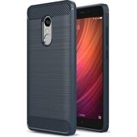 Teleplus Xiaomi Redmi Note 4 Özel Karbon Ve Silikonlu Kılıf Lacivert + Kırılmaz Cam