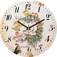 Clockmaker By Cadran Retro Vintage 30X30 Mdf Duvar Saati Cmm133