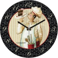 Clockmaker By Cadran Retro Vintage 30X30 Mdf Duvar Saati Cmm144