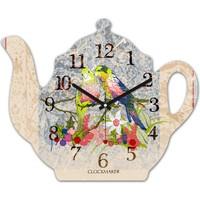 Clockmaker By Cadran 30x25 MDF Demlik Duvar Saati CMM204