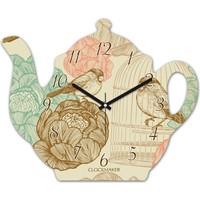 Clockmaker By Cadran 30x25 MDF Demlik Duvar Saati CMM212
