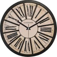 Clockmaker By Cadran Retro Vintage 30X30 Mdf Duvar Saati Cmm54