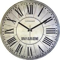 Clockmaker By Cadran Retro Vintage 30X30 Mdf Duvar Saati Cmm73