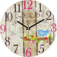 Clockmaker By Cadran Retro Vintage 30X30 Mdf Duvar Saati Cmm77