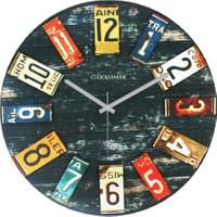 Clockmaker By Cadran Retro Vintage 30X30 Mdf Duvar Saati Cmm93