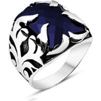 Tesbihane 925 Ayar Gümüş Şövalye Yüzüğü