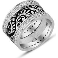 Tesbihane 925 Ayar Gümüş Zirkon Taşlı Bayan Alyans