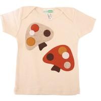 Decaf Plush Mantar Aplike Kısa Kollu T - Shirt