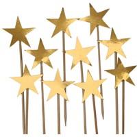 Elitparti Yıldız Kürdan Süs Altın 10 Adet - Kalp Kürdan Süs Altın