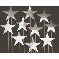 Elitparti Yıldız Kürdan Süs Gümüş 10 Adet