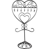 Hunga Metal Kalp Desenli Takı Askılığı