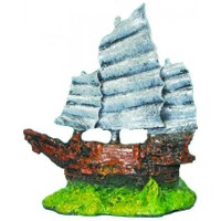 Ti-Sert Minik Yelkenli Gemi Akvaryum Dekoru (D-106)