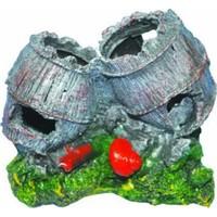 Ti-Sert İkili Küçük Fıçı Akvaryum Dekoru (D-234)