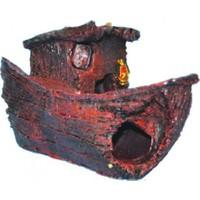 Ti-Sert Küçük Kayık Akvaryum Dekoru (D-104)