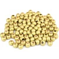 Hunga Altın Renk Ahşap Boncuk 8Mm