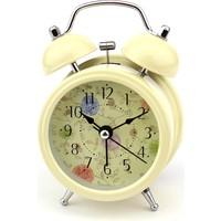 Hunga Metal Alarmlı Masa Saati Krem