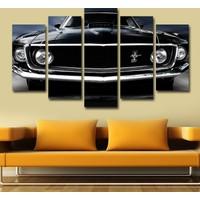 7Renk Dekor Klasik Araba Dekoratif 5 Parça Mdf Tablo