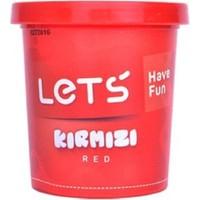 Lets Tek Renk Oyun Hamuru Kırmızı 150 gr.