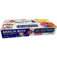 Rubenis 10 Renk Akrilik Boya Şişede