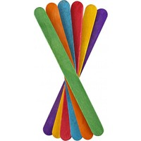 Brons Renkli Dar Dondurma Çubuğu 50 Adet (Ahşap Çubuk)