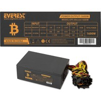 Everest EPS-Bitcoin 1600W 12*(P6+P2)+(P4+P4) 80mm Dual İnce Fan Power Supply (Kutusuz)
