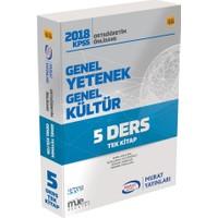 Murat Yayınları 2018 KPSS Ortaöğretim Önlisans Genel Yetenek Genel Kültür Konu Anlatım Tek Kitap