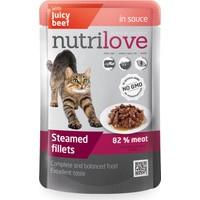 Nutrilove Tahılsız Gravy Soslu Biftekli Kedi Pouch 85 gr