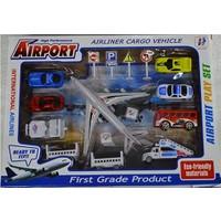 Erkol Oyuncak 69101 - 7 Havaalanı Seti - Kutulu - Airline Cargo Vehicle