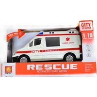 Erkol Oyuncak Wy590A B Servis Minibüsü - Polis - Ambulans - Işık + Ses - City Service +3 Yaş