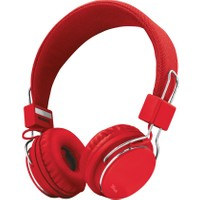 Trust 21822 Ziva Spor Mikrofonlu Kafa Bantlı Kulaklık Kırmızı