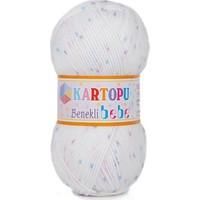 Kartopu Benekli Bebe El Örgü İpi - (Bebek Yünü)