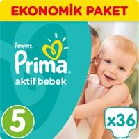 Prima Bebek Bezi Aktif Bebek Ekonomik Paket 5 Beden 36 Adet