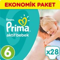 Prima Bebek Bezi Aktif Bebek Ekonomik Paket 6 Beden 28 Adet