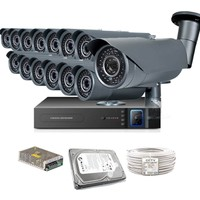 Promax Pro2042S 14' Lü 3 Megapiksel Sony Lens 1080P Aptina Sensör Güvenlik Kamerası Seti