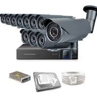 Promax Pro1342S 11' Li 3 Megapiksel Sony Lens 720P Aptina Sensör Güvenlik Kamerası Seti