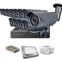 Promax Pro1342S 12' Li 3 Megapiksel Sony Lens 720P Aptina Sensör Güvenlik Kamerası Seti