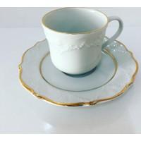 Porland Porselen 2 File Yaldız Kahve Takımı 6Lı