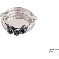 Meryemzeynep Çiçek Motifli Gümüş Küllük