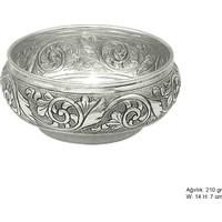 Meryemzeynep Yaprak Desenli Gümüş Şekerlik