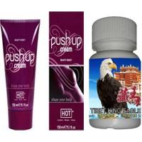Push Up Göğüs Dolgunlaştırıcı Krem + T30 Büyütücü Sertleştirici Geciktirici İktidarsızlık Hapı 30 Lu Kapsül