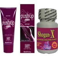 Push Up P Cream Göğüs Dolgunlaştırıcı Krem + S10 Etkili Erkek Azdırıcı Penis Sertleştirici Büyütücü Geciktirici 10Lu Kapsül