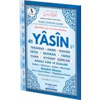 Furkan Neşriyat 80 Sayfa Orta Boy Karşılıklı Türkçeli Yasin-i Şerif (Mavi)
