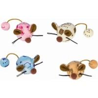Nobby Catnipli Renkli Peluş Fare Kedi Oyuncağı 6 cm 2'li Paket