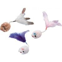 Nobby Catnip Kedi Oyuncağı Pelüş Fare Uzun Kuyruklu Kedi Oyuncağı 3 cm 3'Lü Paket