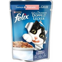 Felix Somon&Alabalıklı Yetişkin Kedi Konservesi 20X100 GR